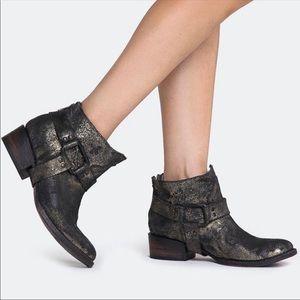 Freebird Distressed Phlow Metallic Leather Boots